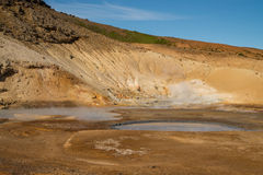 Active geothermal volcanic area Royalty Free Stock Photos