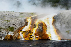 Active geyser in Yellowstone National Park. Royalty Free Stock Photos