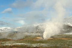 Active geysir on Iceland Royalty Free Stock Images