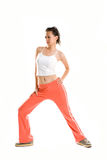 Active girl doing exercise Royalty Free Stock Images
