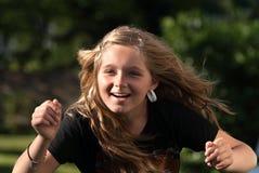 Active girl outdoors Stock Photos