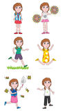 Active Girl Set_eps Royalty Free Stock Photography