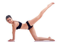 Active girl with sporty figure Royalty Free Stock Images