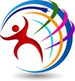 Active globe logo. Illustration art of a active globe logo with  background Royalty Free Stock Photography
