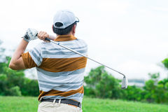 Active golf player Royalty Free Stock Photography