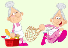 Active grandmother Stock Image