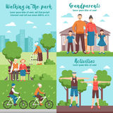 Active Grandparents Outdoor Compositions Royalty Free Stock Photo