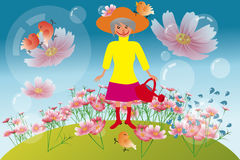 Active granny illustration Stock Photography