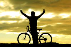 Bicycle sport and happy people royalty free stock images