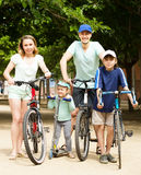 Active happy family with outdoor Stock Photography