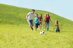 Active happy family Stock Photos