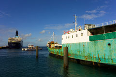 An active harbor at kingstown in the caribbean Royalty Free Stock Image