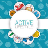 Active healthy lifestyle background. Royalty Free Stock Images