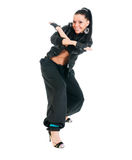 Active hip-hop dancer on white Stock Photo