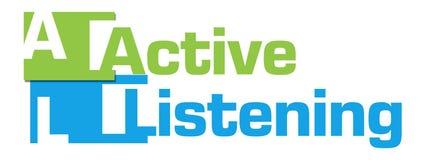 Active-hörende grün-blaue abstrakte Streifen Stockbild