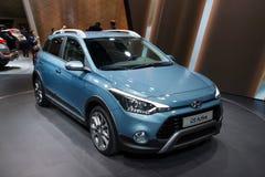 Active Hyundais i20 - Europapremiere Lizenzfreies Stockfoto