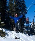 Active im Schnee Stockbild