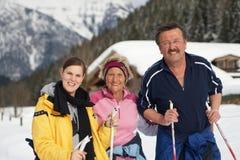 Active im Winter Lizenzfreie Stockfotos