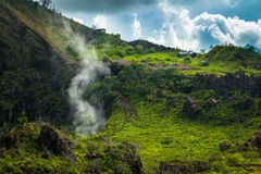 Active Indonesian volcano Batur in the tropical island Bali Royalty Free Stock Images