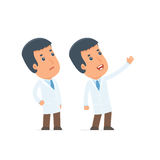 Active and Intelligent Character Doctor making presentation of n Royalty Free Stock Photo