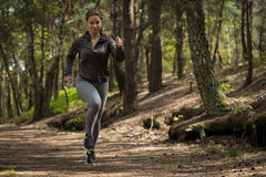 Active jogger running in nature Stock Photography