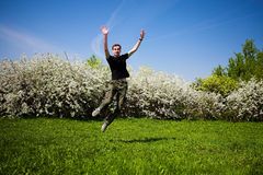 Active jumping man Royalty Free Stock Image