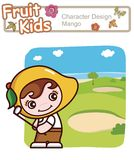 Active Kid 12 ------ Golf. Active kid playing golf in nature Stock Image