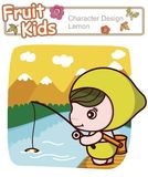 Active Kid 17 - Angling for Fish Stock Photos