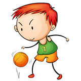 Active kid. Illustration of a young basketballer Stock Images