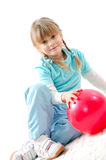 Active kid with a ball Stock Images