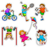 Active kids stock illustration