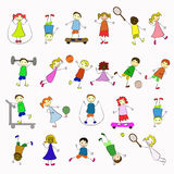 Active kids Royalty Free Stock Photos