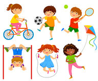 Active kids. Kids doing physical activity through play Royalty Free Stock Photo