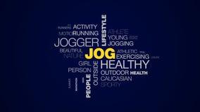 Active a la gente femenina del basculador de la forma de vida de la aptitud del deporte del corredor sano del ejercicio que entre metrajes