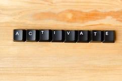 Active la palabra Fotografía de archivo