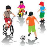 Active leisure with children Royalty Free Stock Photos
