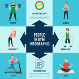 Active Leisure Infographic Concept Stock Photography