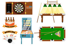 Active leisure and sports game set Royalty Free Stock Photography