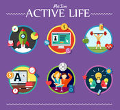 Active life collection of vector illustration Stock Photo