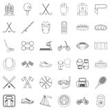 Active life icons set, outline style Stock Image