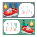 Active lifestyle banners. Stock Images