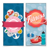 Active lifestyle banners. Royalty Free Stock Photo