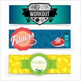 Active lifestyle banners. Royalty Free Stock Photography