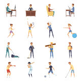 Active Lifestyle Character Icons Royalty Free Stock Photos