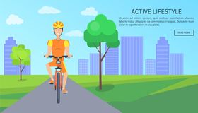 Active Lifestyle Colorful Card Vector Illustration vector illustration