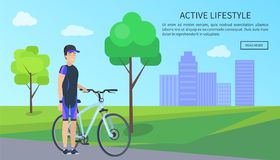 Active Lifestyle, Bicyclist Vector Illustration stock illustration