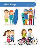Active lifestyle people Stock Image