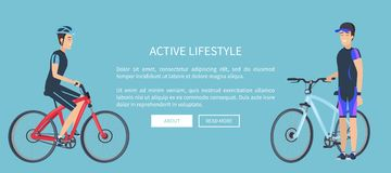 Active Lifestyle Bicyclists Vector Illustration vector illustration