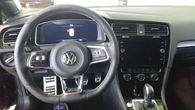 Vw Golf GTD hot hatch interior dashboard details royalty free stock photo