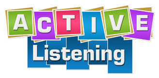 Active Listening Colorful Squares Stripes Royalty Free Stock Photography
